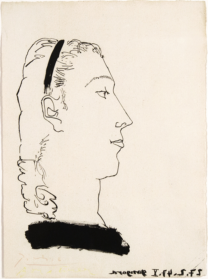portrait of a female.