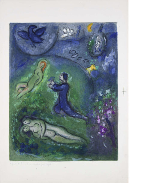 Marc Chagall, Daphnis and Chloé: Daphnis and Lycenion, 1961